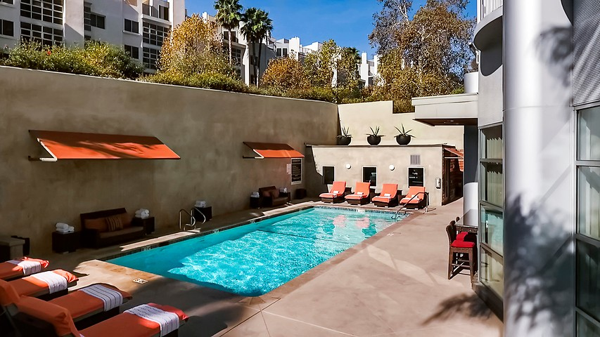 Los Angeles Hotel Pool And Fitness Center Hotel Angeleno