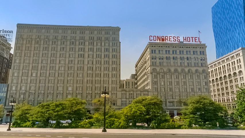 Downtown Chicago Hotels Congress Plaza Hotel On Michigan Ave