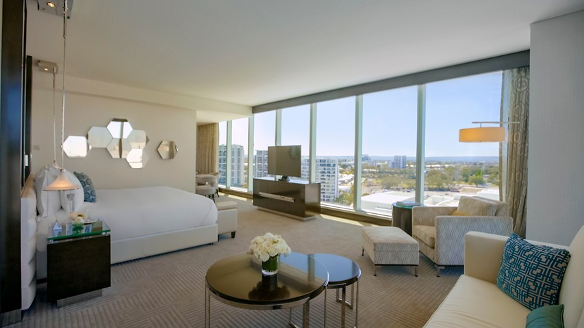 Premier King Room Accommodations At Crown Towers Perth