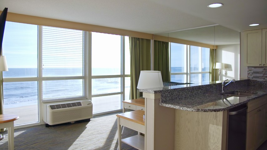 Two Bedroom Suite Ocean View Virginia Beach Hotel Rooms Boardwalk Resort